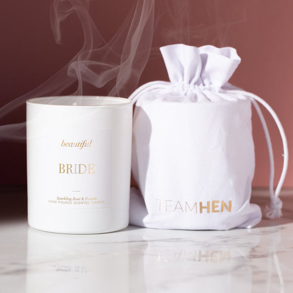 Beautiful Bride Candle White | BRIDE TO BE GIFT