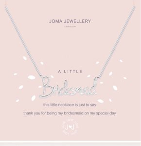 Joma Jewellery 'Bridesmaid' Necklace (Bridesmaid Gift)