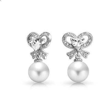 Charlotte Pearl Bridal Earrings