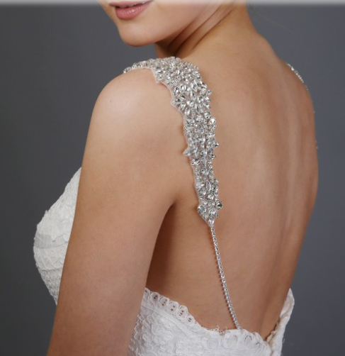 Silver Beaded Dress Straps