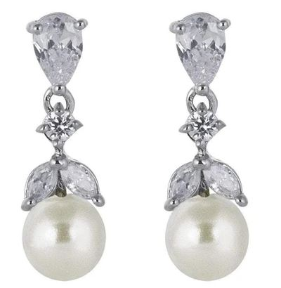 Elie Pearl Drop Bridal Earrings