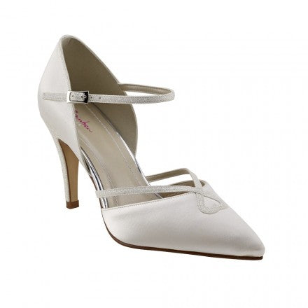 Rainbow Club 'Fleur' Pointed Toe Court Shoes, Ivory