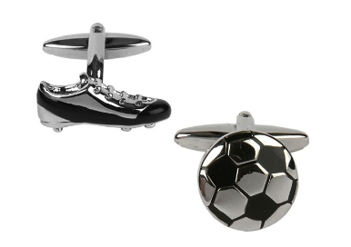 Football & Boot Cufflinks - Best Man gift