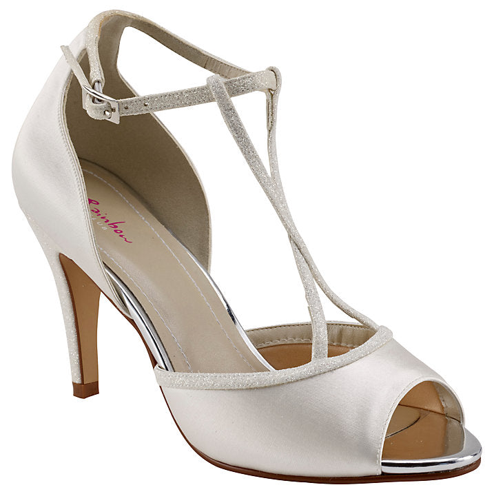 Rainbow Club Gigi Peep Toe Sandals, Ivory