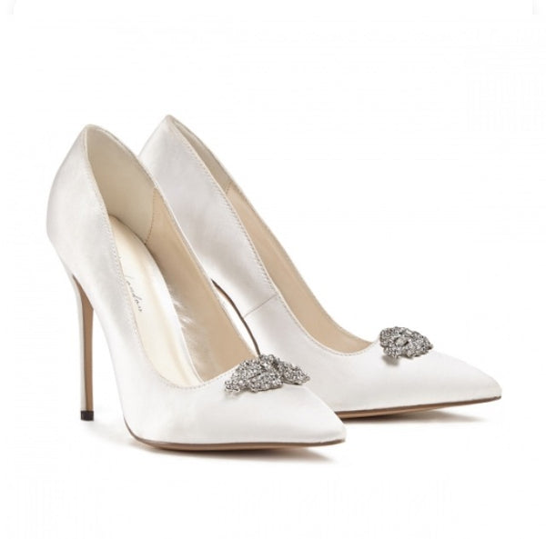 Ivory Satin 'Alandra' Bridal Shoes