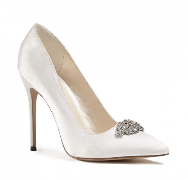 Pink by Paradox London Ivory Satin 'Alandra' Bridal Shoes