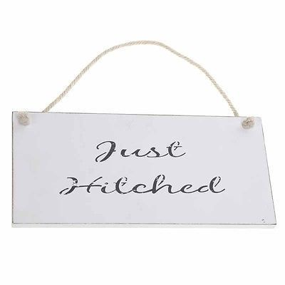 'Just Hitched' Wedding Sign