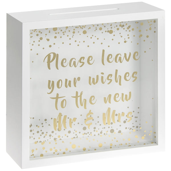 Wedding Memories Box - Please leave your wishes to the new Mr & Mrs