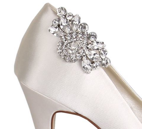 MYRA Diamante Brooch Shoe Clips