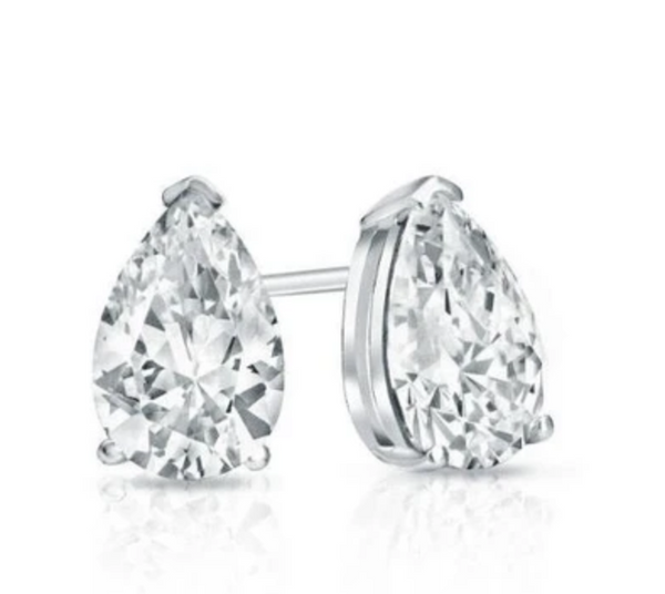 Divine Pear Shape Bridal Earrings