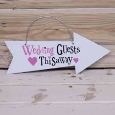 Wedding Guests This Way Sign