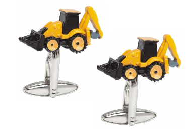 Yellow & Black Digger Groomsman Cufflinks- Groom Gift