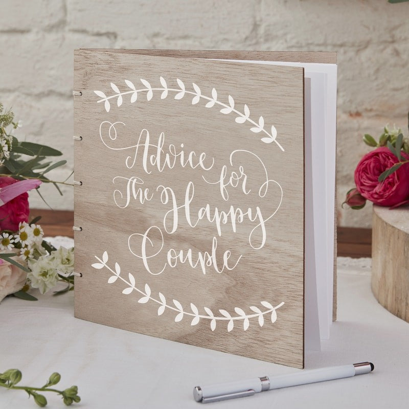 Wooden Advice Guest Book