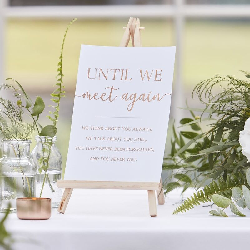 Until We Meet Again Memory Wedding Table Sign