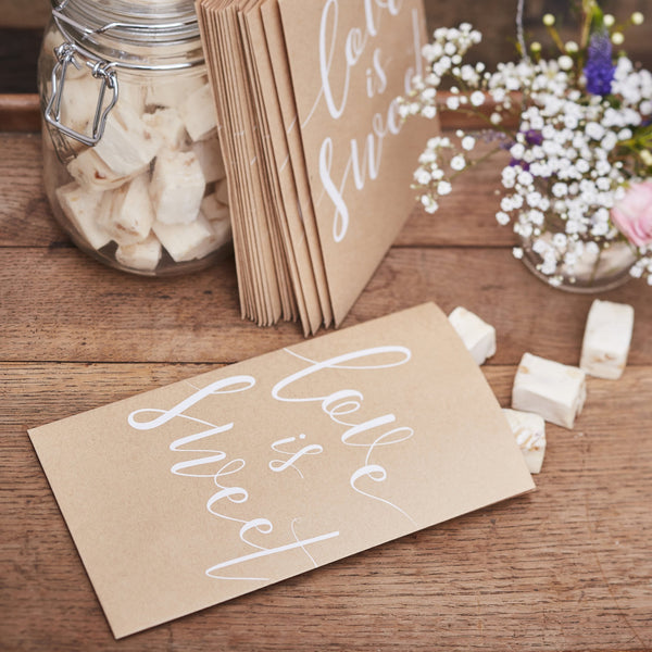 Love is Sweet Treat Bags - Rustic Country