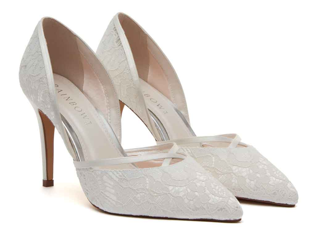 Georgia Ivory Lace Wedding Shoes