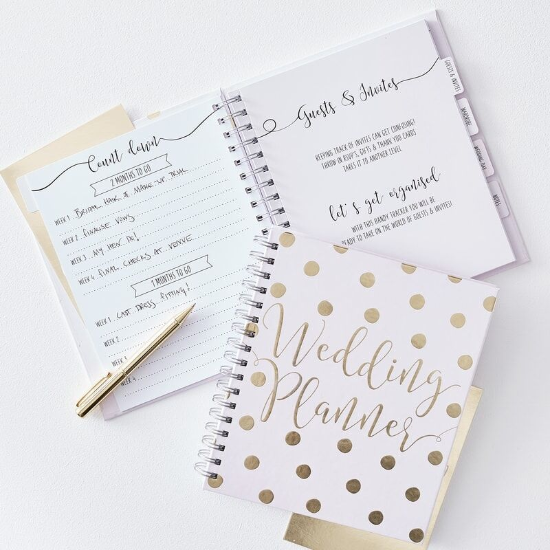 Pink and Gold Wedding Planner