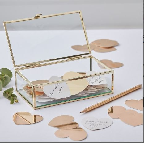 Gold Glass Box - Alternative guestbbook