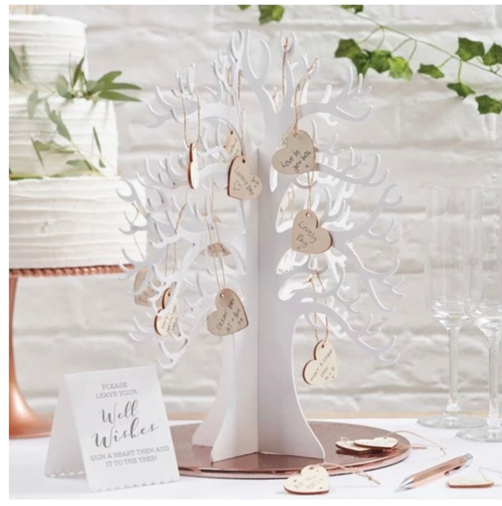 Wooden Guest Book Wishing Tree