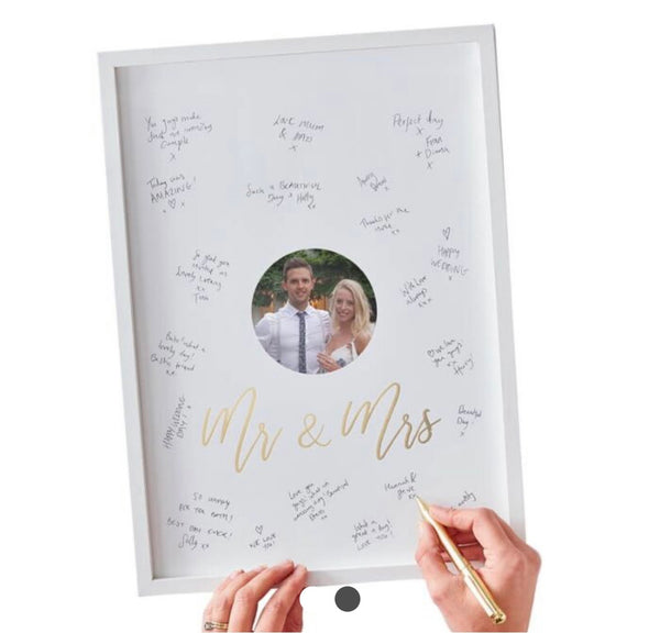 Mr and Mrs Alternative Guest Book Signing Frame