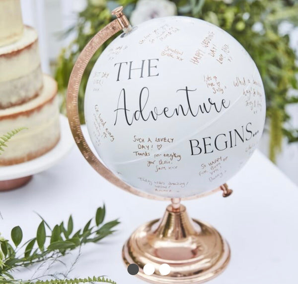 Wedding Globe Guest book Alternative