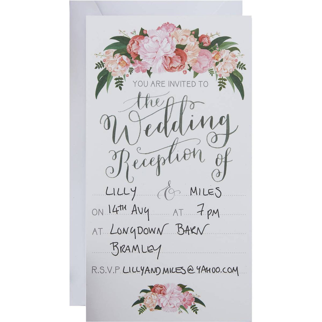 Wedding Reception Invites