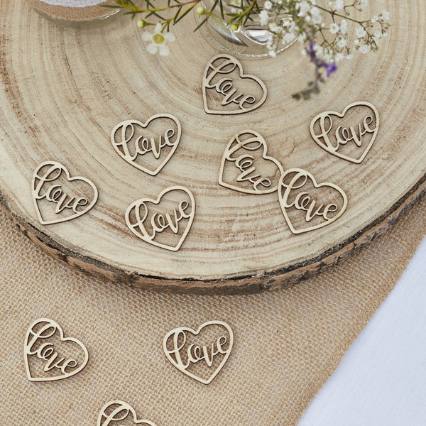 Wooden LOVE Confetti