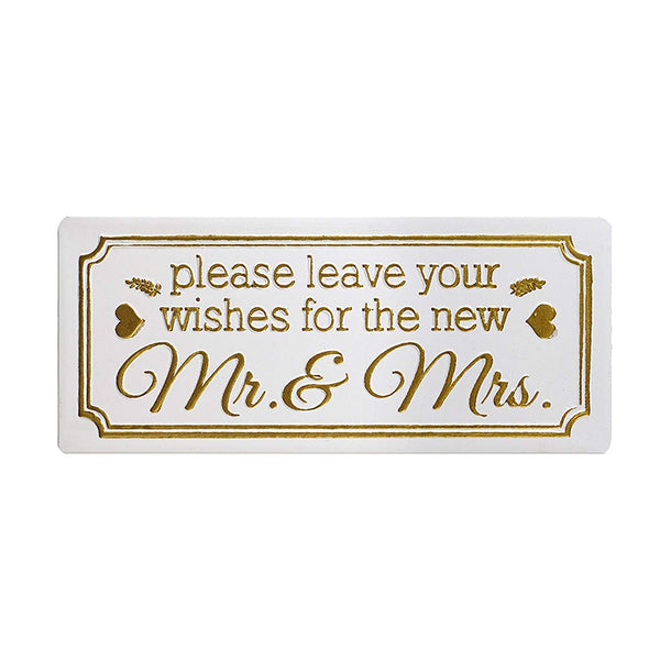 Please Leave your Wishes for the New 'Mr & Mrs' Wedding Sign