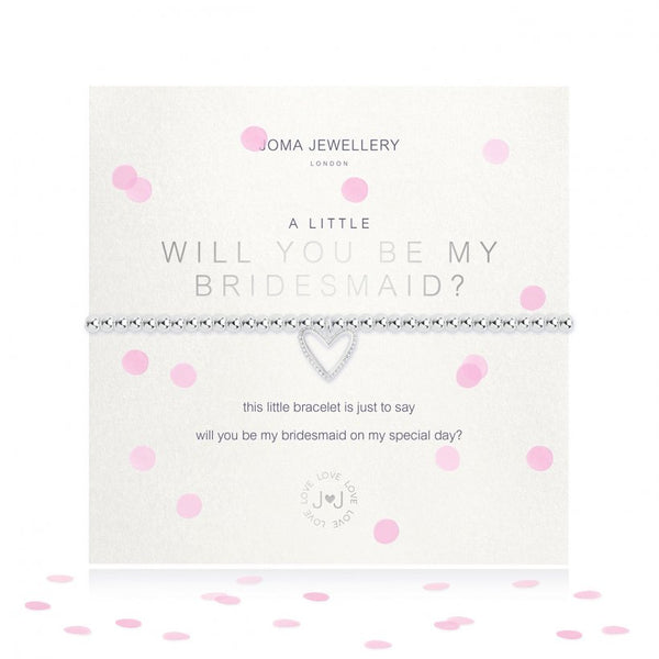 Joma Jewellery 'Will you be my Bridesmaid' Bracelet (Bridesmaid Gift)