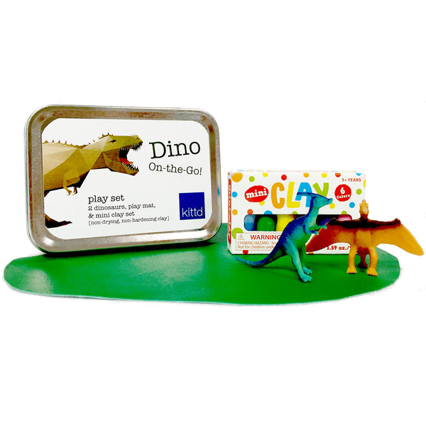 Dino On-the-Go Travel Tin Play Set