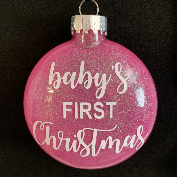 Baby's First Christmas Ornament - pink