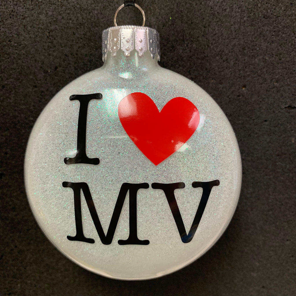 I Heart MV Ornament