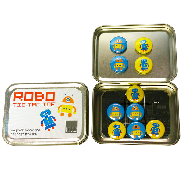 ROBO Tic-Tac-Toe On-the-Go Travel Play Set