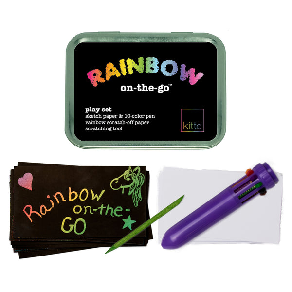 Rainbow On-the-Go Travel Drawing Playset