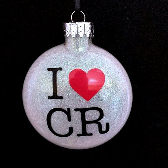 I Heart CR Ornament