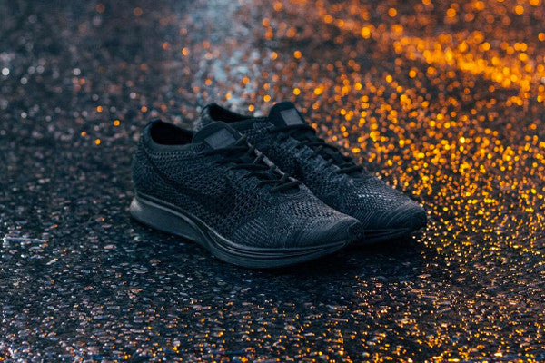 Triple Black Flyknit Racers / Available Now