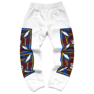 Border Bandana Sweatpants - White