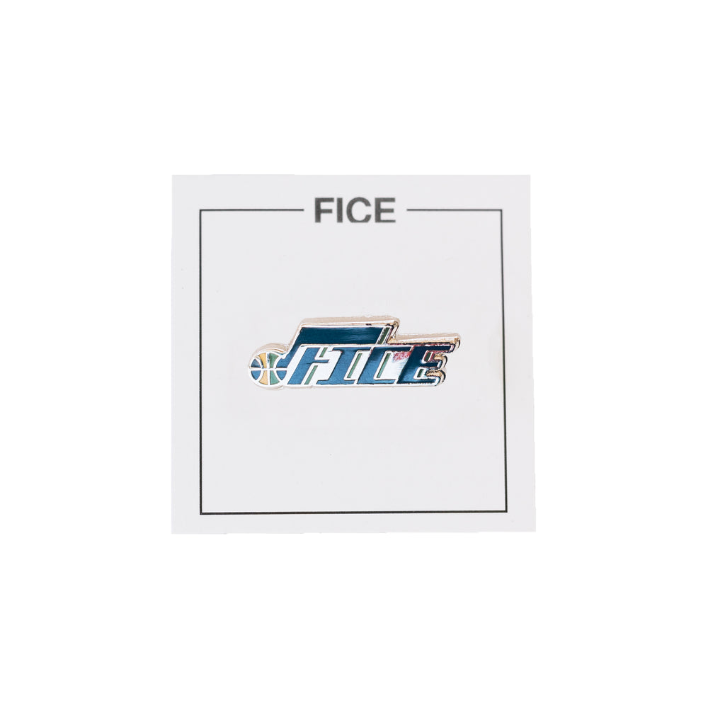 Utah Jazz FICE Pin - Navy/Gold