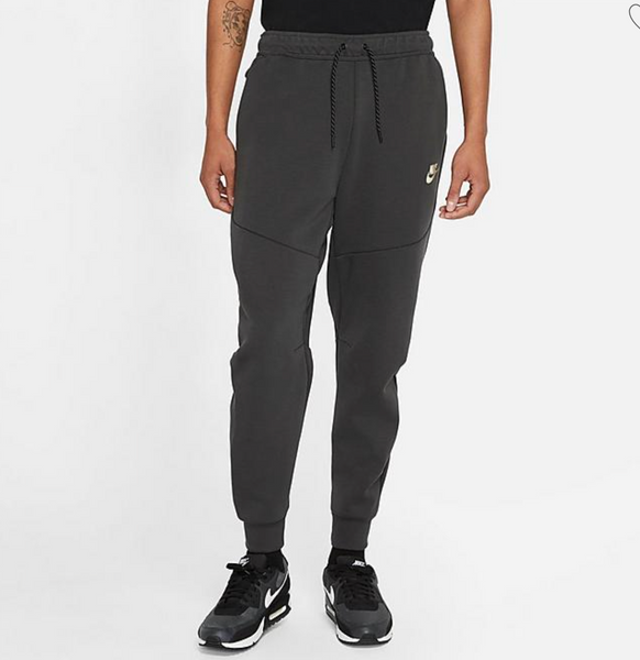 "Nike Sportswear ""Highlighter Tape"" Tech Fleece Pants - DARK SMOKE GREY"