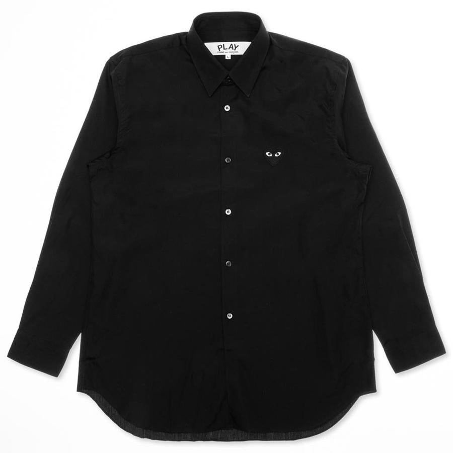Comme des Garçons PLAY Men's Black Heart Patch Blouse - Black