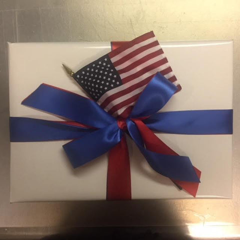Patriotic Gift Wrap | Red, White, and Blue Gift Wrap with US Flag