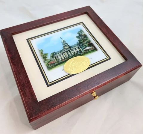 Traditional Stationery Box | Custom Desk Box | Luxury Business Gift | Graduation Gift | Personalised