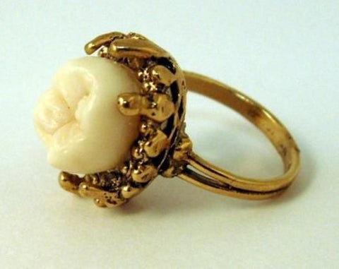 Gold Tooth Ring for Funeral