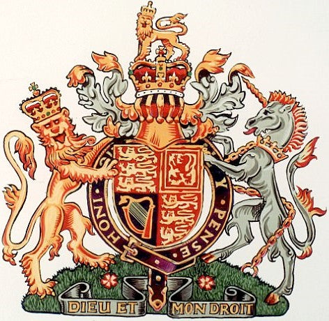 COAT OF ARMS FOR THE MONARCH - ENGLAND, IRELAND, SCOTLAND AND WALES