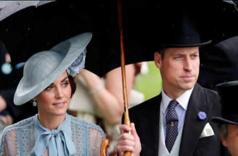 Royal Ascot Umbrella | Prince William's Fox Umbrella | Solid Hickory with a Gold Collar and Black Canopy