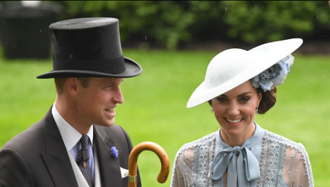 Royal Ascot Umbrella | William's Solid Hickory with a Gold Collar and Black Canopy