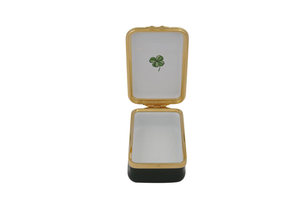 Halcyon Days Irish Blessing Box - May the Road Rise Up To Meet You... Enamel Box-Enamel Box-Sterling-and-Burke