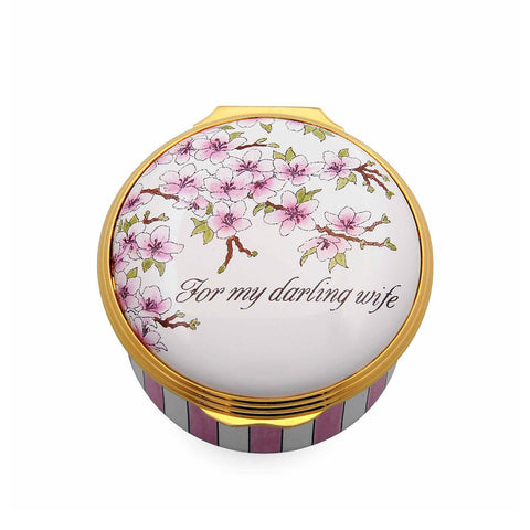"Halcyon Days ""For My Darling Wife"" Enamel Box-Enamel Box-Sterling-and-Burke"