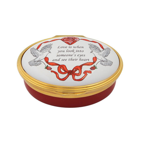 "Halcyon Days ""Love is When You Look..."" Enamel Box-Enamel Box-Sterling-and-Burke"