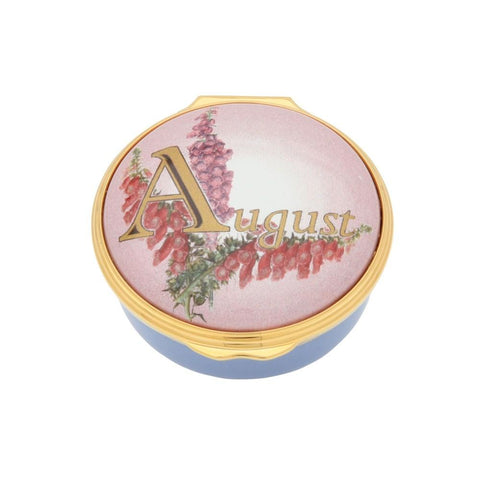 "Halcyon Days ""August"" Enamel Box-Enamel Box-Sterling-and-Burke"